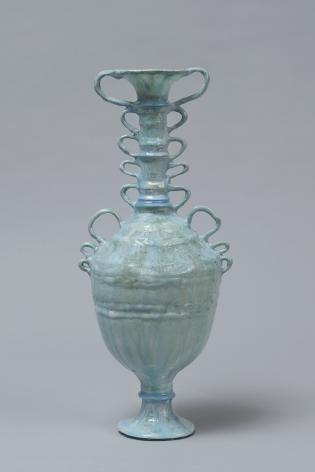 Shari Mendelson Light Blue Motts Vessel, 2020