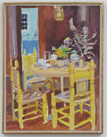 Nell Blaine Yellow Chairs, 1975