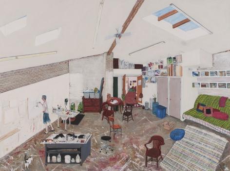 Sarah McEneaney Studio 2015, 2015