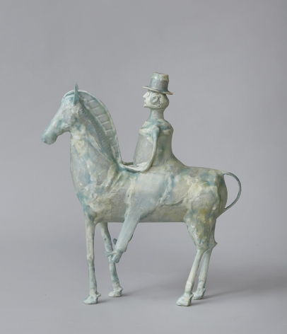 Shari Mendelson Horse and Rider for Bill Traylor, 2020
