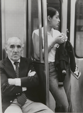Rudy Burckhardt New York Subway (seated man with crossed arms), ca. 1985
