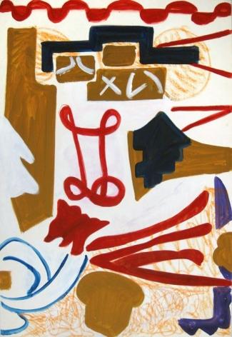 Shirley Jaffe Untitled #61, n.d.