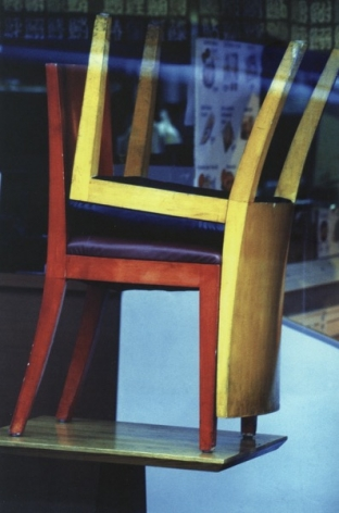 Louis Stettner Chairs, 9th Avenue, 2000