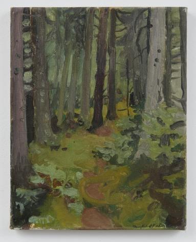Fairfield Porter Mossy Woods, 1962