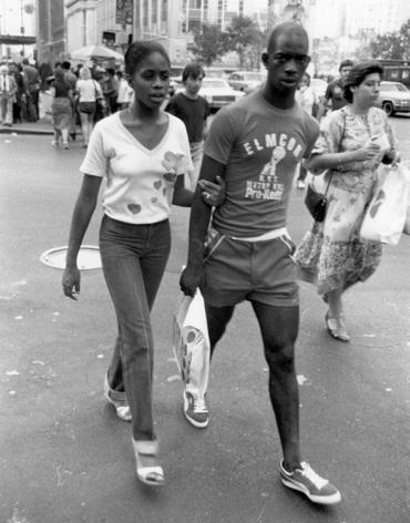 Rudy Burckhardt Untitled, New York (couple walking), c. 1985