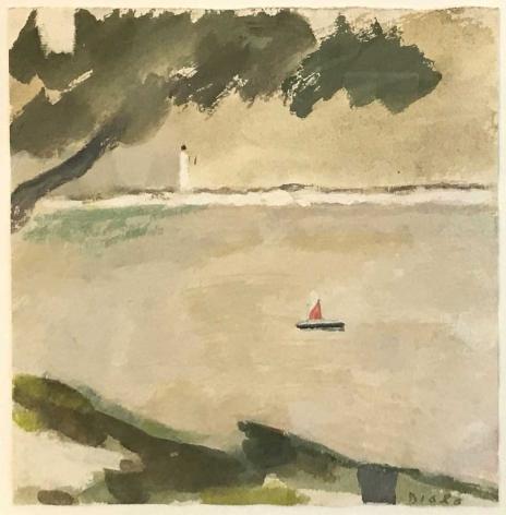 """Study for """"Arbre et la Mer: Provincetown"""", 1985"""