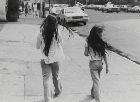 Rudy Burckhardt Untitled, New York (two girls with long hair), c. 1978