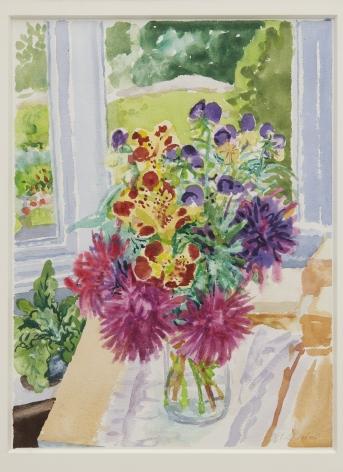 Nell Blaine Monkey Flowers, Astersand Violas, 1986
