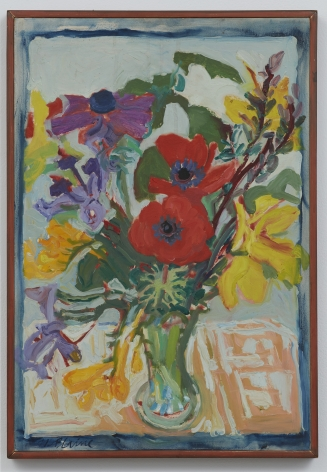 Nell Blaine Red Flowers, 1964