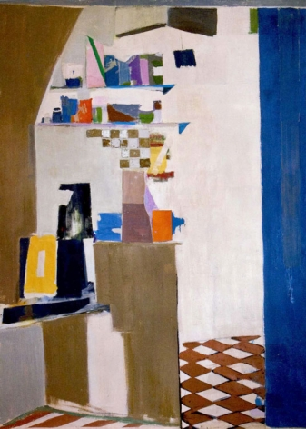Janice Biala Blue Kitchen, 1969