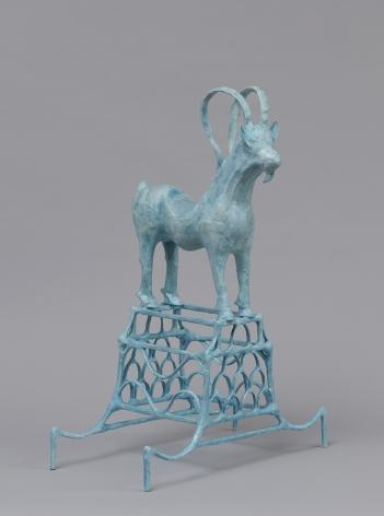 Shari Mendelson Blue Ibex on Stand, 2020