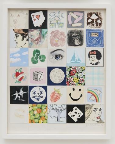 Joe Brainard 30 Squares, 1972