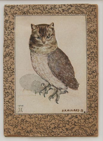 Joe Brainard, Untitled (Owl Cat), 1971