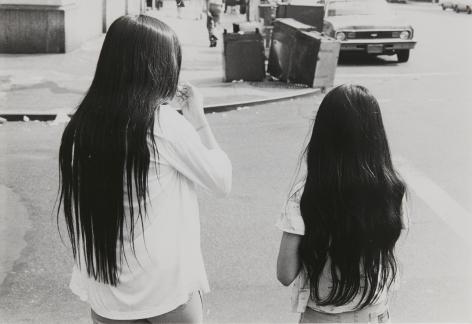 Rudy Burckhardt Untitled, New York, (two girls with long dark hair), c. 1978