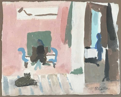 "Study for ""Interior with Dominique"", c. 1967"