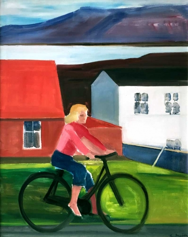 Louisa Matthíasdóttir Girl on Bicycle, n.d.