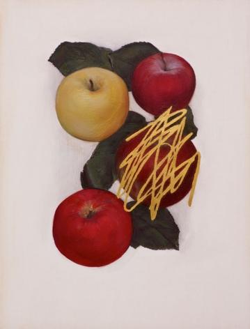 Jen Mazza Untitled (4 Apples/Gold), 2014