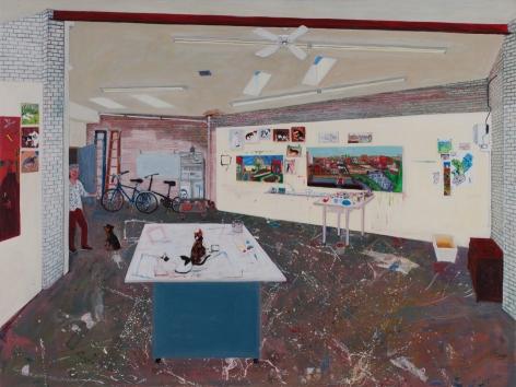 Sarah McEneaney Studio 2016, 2016