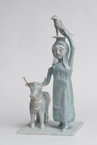 Shari Mendelson Girl with Bull and Falcon, 2020