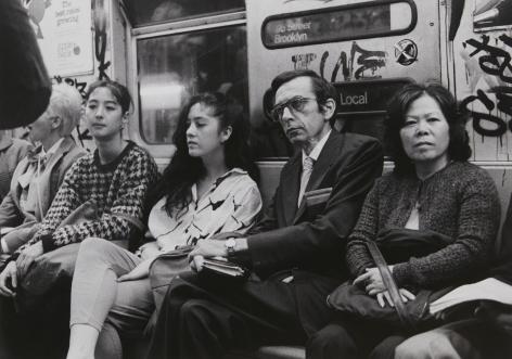 Rudy Burckhardt Subway, New York, c. 1985