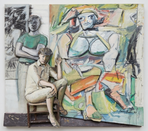 Bill and Elaine de Kooning and 'Woman I', 1997