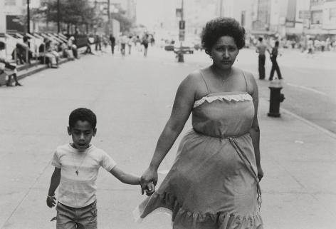 Rudy Burckhardt Untitled, New York (Woman holding boy's hand), c. 1978
