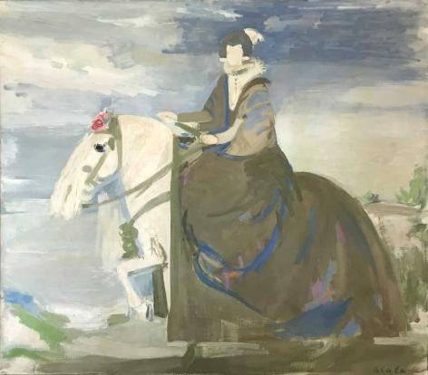 Untitled (Isabel de Bourbon d'apres Velasquez), c. 1990