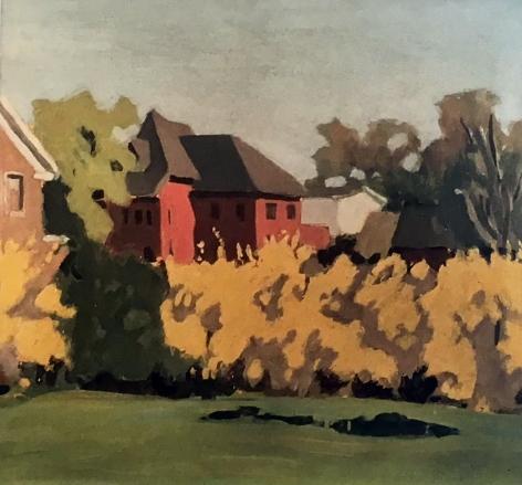 Fairfield Porter, Untitled (View Outside Southampton Studio), 1968