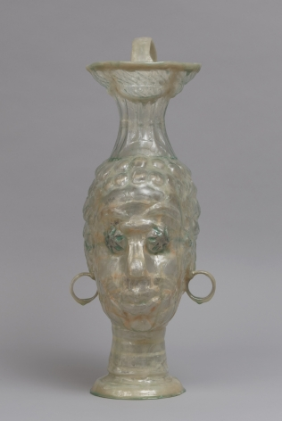 Shari Mendelson Head Vessel with Blue Eyes and Round Earrings, 2019