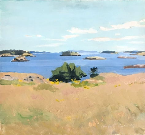 Fairfield Porter, View From Bear Island, 1968