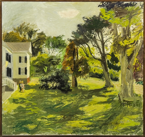 Fairfield Porter, Katie and Jacob in the Yard, c.1953