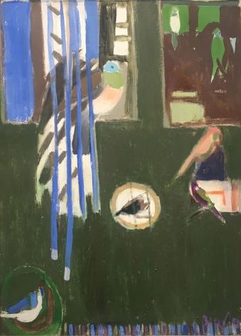 Canari dans des cages, 1986