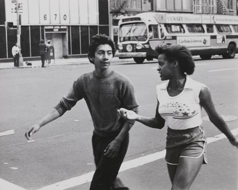 Rudy Burckhardt Untitled, New York (couple walking in street), c. 1978