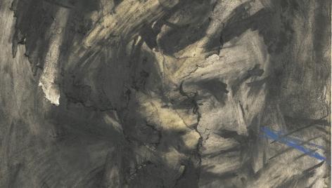 Frank Auerbach,Head of Gerda Boehm, 1961 (detail)