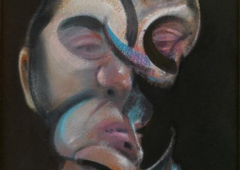 Francis Bacon,Self-Portrait, 1972 (detail)