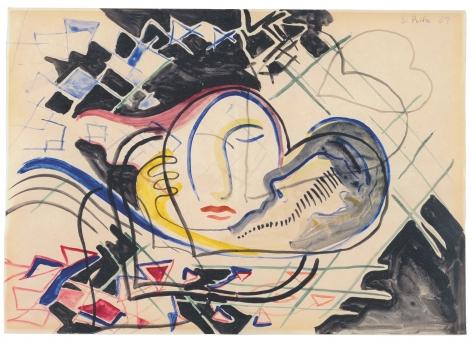 Sigmar Polke,Ohne Titel (Herzen) [Untitled (Heart)], 1969