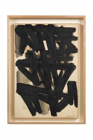 Soulages,Etude, 1957-58