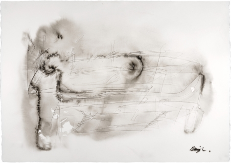 Messenger, ink on paper, 29 1/2 x 41 3/8 in. (75 x 105 cm.)