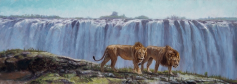 On the Edge of the Mighty Victoria Falls