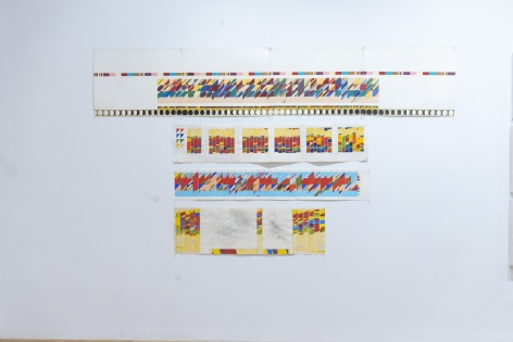 Installation view of Morgan O'Hara: TIME STUDIES - LETTERPRESS - SILVERPOINT at Anita Rogers Gallery