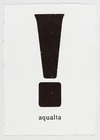 "Morgan O'Hara. LOST AND FOUND IN VENICE: aqualta. 2017. Letterpress printer's ink on handmade paper. 13 1/4"" x 9 3/4"""