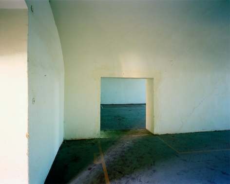 """Yishay Garbasz. Footsteps (20) from In My Mother's Footsteps, 2004- 2009. C-print and text. 32 7/8"""" x 50 3/4"""""""
