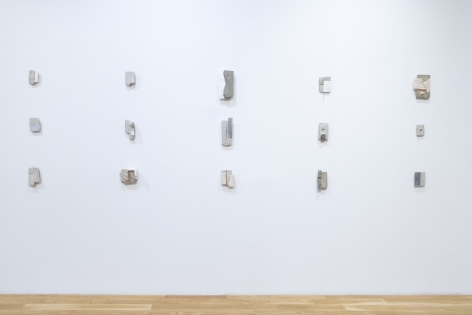 Installation view of Mark Webber: We Shall be a City Upon a Hill at Anita Rogers Gallery