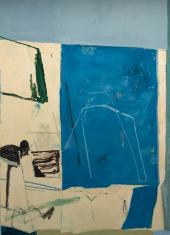 "Tristan Barlow. Blueprint II. 2016. Oil on linen. 67"" x 55"""