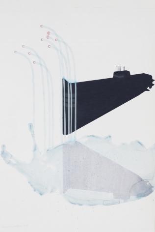Mahreen Zuberi. Sub. 2010. Pencil, gouache and watercolor on wasli. 33 x 45 cm