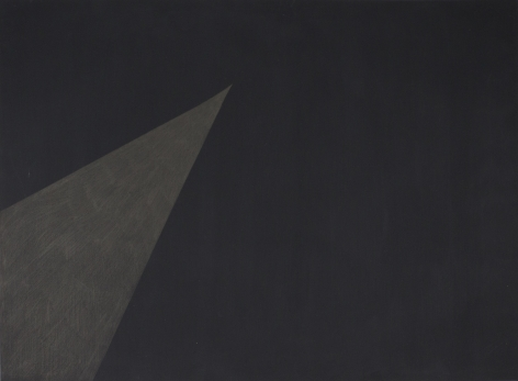 """SILVERPOINT SOUTHWEST TO NORTH, Silverpoint drawn over black gouache on watercolor paper, 22"""" x 30"""""""
