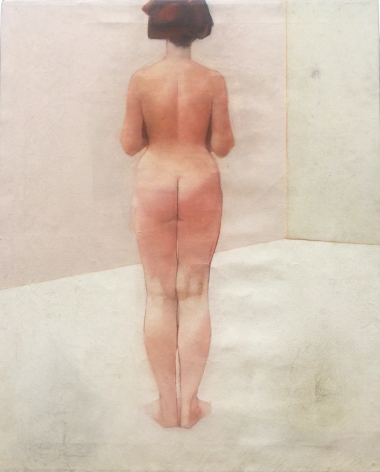 """Jack Martin Rogers. Nude. 1964. Oil on canvas. 29 3/4"""" x 24 1/2"""" 