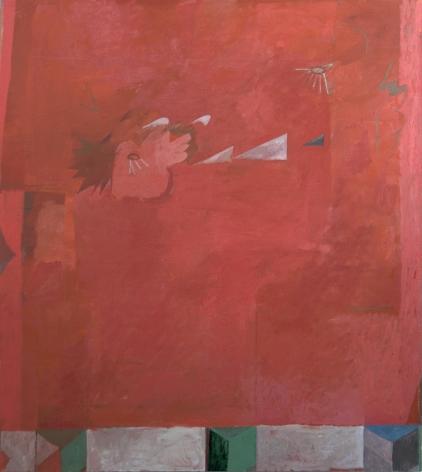 "Tristan Barlow. peaks, hills, & predella. 2017. Oil on linen. 70 3/4"" x 63"""