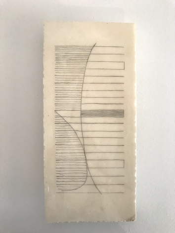 "Mark Webber. Plaster Drawing 5. 2017. Plaster. 12 3/4"" x 5 15/16""| Anita Rogers Gallery"