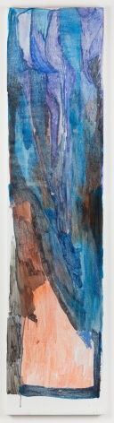 """Varda Caivano. Untitled. 2014. Acrylic on canvas. 79 1/2"""" x 18 7/8"""""""